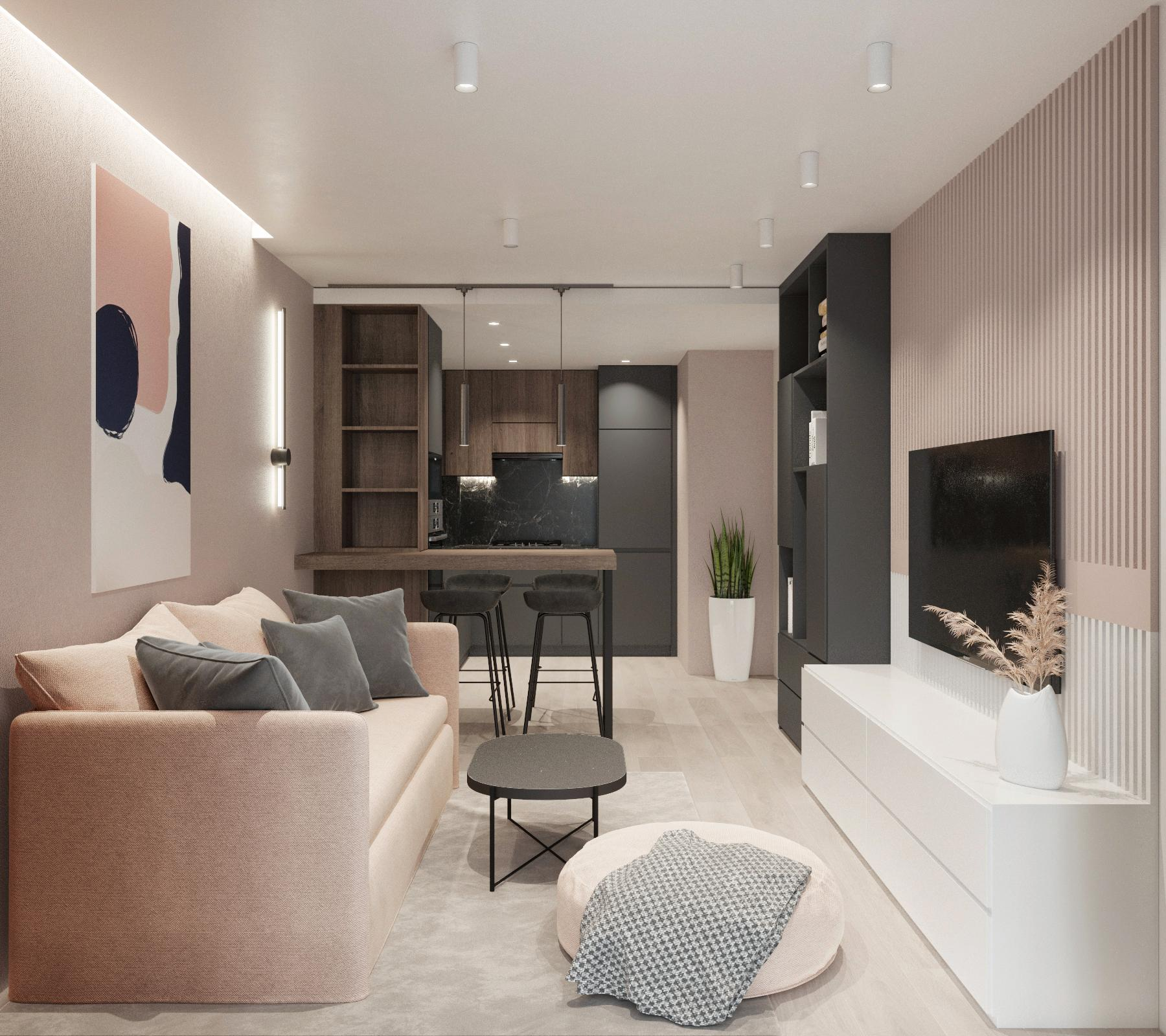 Apartment  «Modern Peach»